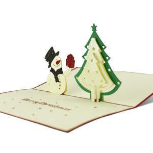 Pop-Up-Karte-Tannenbaum-Schneemann-Weihnachten-bremer-box